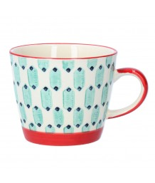 Gisela Graham - Blue Geo Ceramic Mug