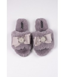 Anya Slipper in Mink - Large