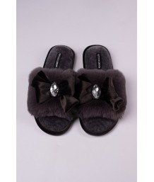 Darcey Slipper in Smoke - Medium