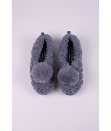 Dora Slipper in Cloud Grey - Large