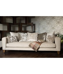 John Sankey - Voltaire Pillow Back Kingsize Sofa in Hudson Linen