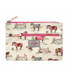 Cath Kidston - PONY KIDS DOUBLE ZIP PENCIL CASE