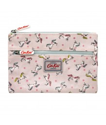 Cath Kidston - Double Zip Unicorn Pink Pencil Case