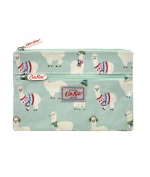 Cath Kidston - Mini Alpacas KIDS DOUBLE ZIP PENCIL CASE