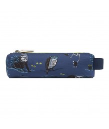 Cath Kidston - NIGHT ANIMALS JUNIOR DOUBLE ZIP BARREL PENCIL CASE