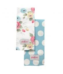 Cath Kidston Set of 2 Tea Towels Painterly Rose