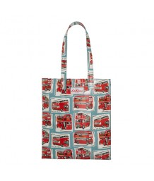 Cath Kidston Bookbag with Gusset London Buses Blue