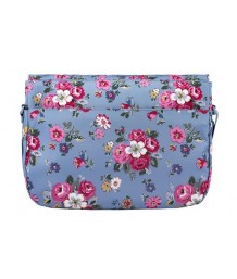 Cath Kidston Buckle Saddle Bag Forest Bunch Sky Blue
