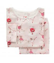 Cath Kidston - Girls Jersey PJ Set Ballerina Pale Pink 1-2 years