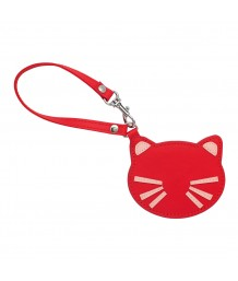 Cath Kidston Cat Mirror Charm Solid Red