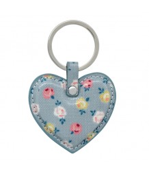 Cath Kidston - Heart Key Fob Lucky Rose