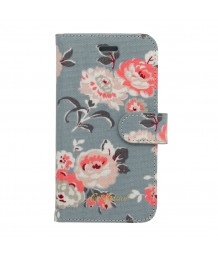 Cath Kidston Iphone 6 Case With Card Holder Wells Rose Slate Blue