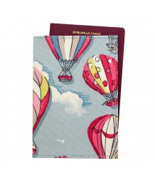 Cath Kidston Passport Holder Hot Air Balloons Dusty Blue