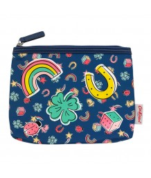 Cath Kidston Printed Poly Good Luck Charms Pouch Navy Multi