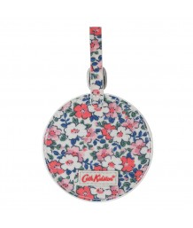 Cath Kidston Round Luggage Tag Meadowfield Ditsy Parchment