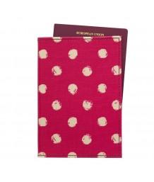 Cath Kidston Passport Holder Mini Smudge Spot Cerise