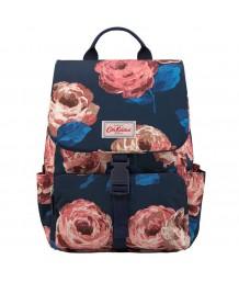 Cath Kidston Buckle Backpack Large Beaumont Rose Dark Navy