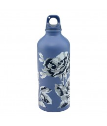 Cath Kidston Aluminium Water Bottle Etched Floral Periwinkle
