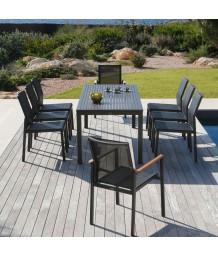 Barlow Tyrie Aura Dining Set Black
