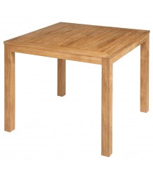 Barlow Tyrie 90cm Square Linear Dining Table