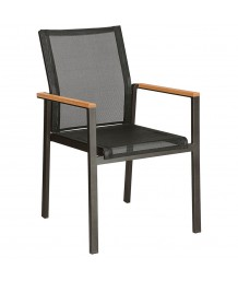 Barlow Tyrie Aura Dining Armchair in Graphite