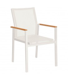 Barlow Tyrie Aura Artic White and Pearl Armchair