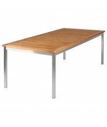 Barlow Tyrie Equinox Dining Table 220cm Rectangular with Teak Top
