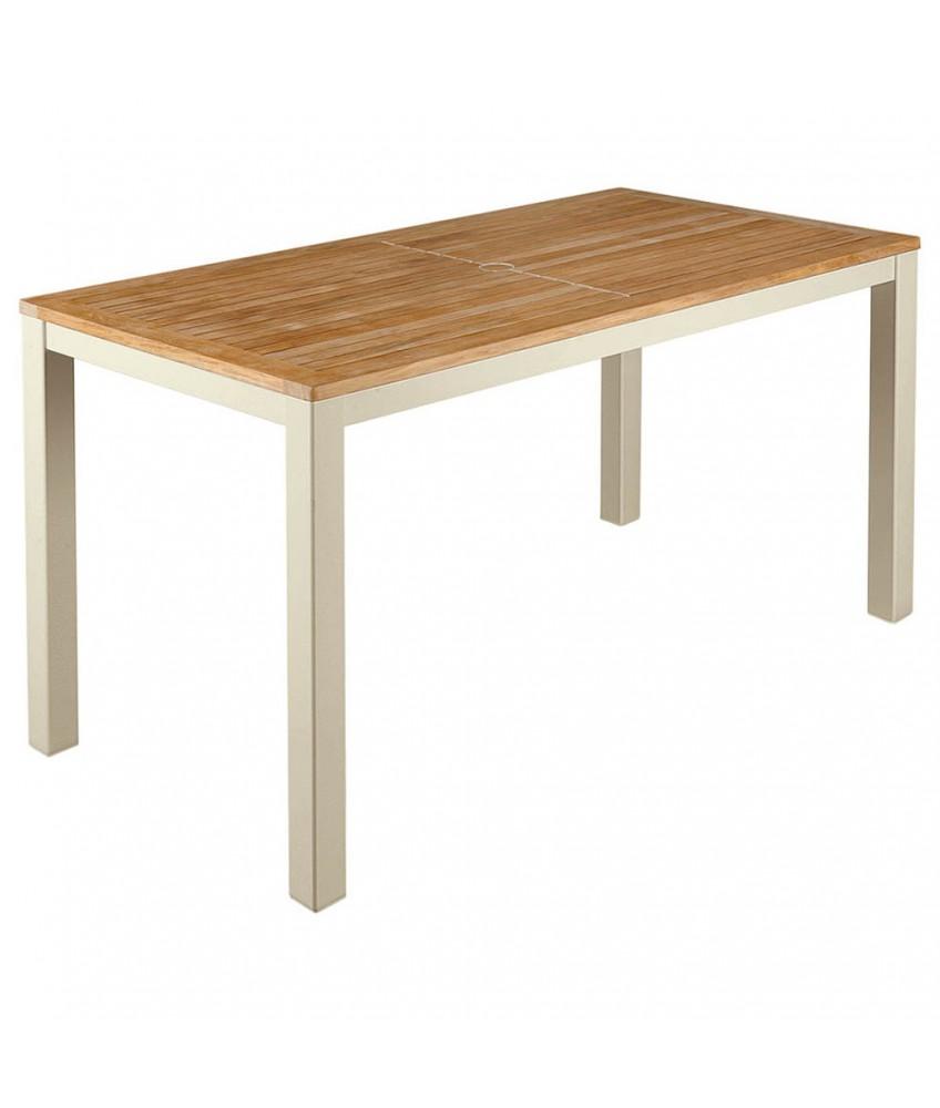 Barlow Tyrie Aura Narrow Teak Dining Table 140cm