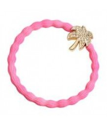 Palm Tree on Neon Pink Hair Band