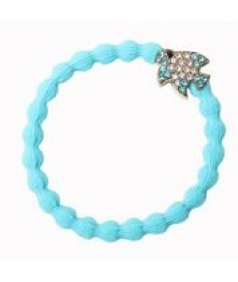 Tropical Fish on Neon Blue Hair Bangle