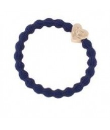 Metallic Gold Heart on Navy Hair Bangle