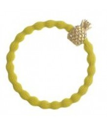 Gold Sequin Pineapple on Yellow Sunshine Hair Band