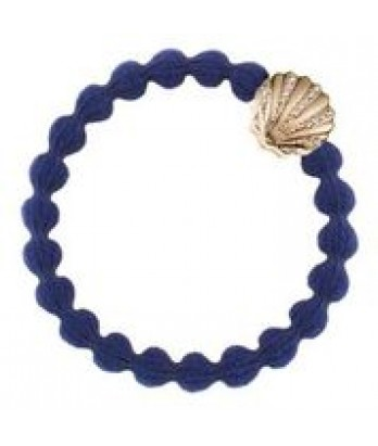 Gold Shell on Navy Hair Band