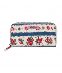 Cath Kidston -  Ribbon Rose Continental Zip Wallet