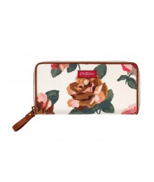 Cath Kidston -  Chiswick Rose Continental Zip Wallet