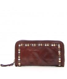 Campomaggi Cognac Leather Wallet Multi Rivet