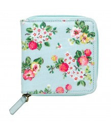 Cath Kidston Square Zip Wallet Wild Raspberries Soft Blue