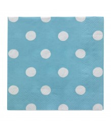 Cath Kidston New Napkins Button Spot Blue