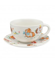 Cath Kidston - Breakfast Cup and Saucer, Pets Party