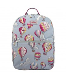 Cath Kidston - Foldaway Backpack, Hot Air Balloons, Dusty Blue
