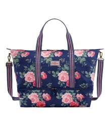 Cath Kidston - Foldaway Double Decker Travel Bag, Antique Rose