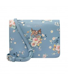 Cath Kidston -  BAMBI ROSE LEATHER CROSSBODY BAG