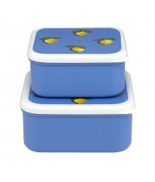 Cath Kidston - LITTLE LEMONS SET OF 2 LUNCH BOXES