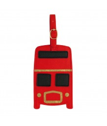 Cath Kidston Novelty Luggage Tag Bus Solid Red