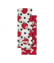 Cath Kidston -  Snow White Apples and Spot Set of 2 Tea Towels
