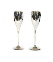 Culinary Concepts Pair of Hammered Champagne Goblets