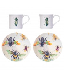 Curios Green Beetle Espresso Set of 2