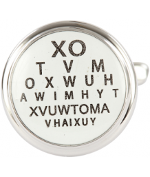 Eye Test Rhodium Cufflinks
