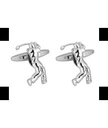 Silver Golfer Rhodium Plated Cufflinks