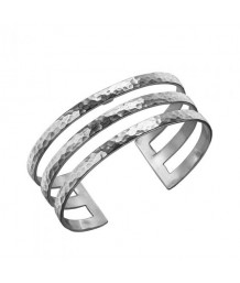 Dower and Hall Sterling Silver 25mm Triple Bar Nomad Cuff